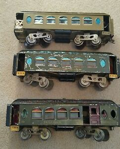 LIONEL PREWAR STANDARD GAUGE 18/19/190 NEW YORK CENTRAL PASSENGER CARS