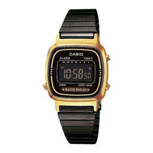 Orologio-Donna-CASIO-Vintage-LA-670WEGB-1B-Nero-Acciaio-Dorato-Classico-Digitale