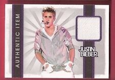 JUSTIN BIEBER AUTHENTIC WORN WHITE MATERIAL SWATCH RELIC CARD 2012 BABY
