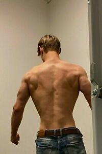Shirtless Male Muscular Hard Body Hunk Jock Chest Abs