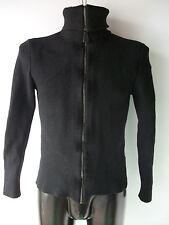 Hugo Boss Red Label Black Full Zip Cardigan Jumper Merino Wool Small/Medium