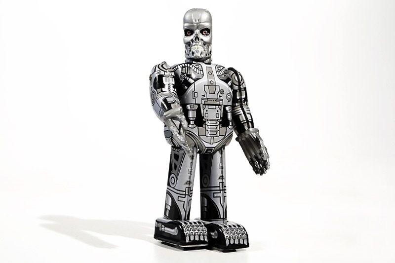 + Blechspielzeug  ROBOTER Skeleton Totenkopf 23 cm (  ) °° Tin Toy °°  | Exquisite Handwerkskunst