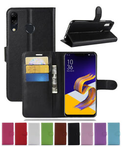 finest selection 25382 d8225 For Asus ZenFone 5/5Z 2018 ZE620KL ZS620KL Leather wallet stand flip ...