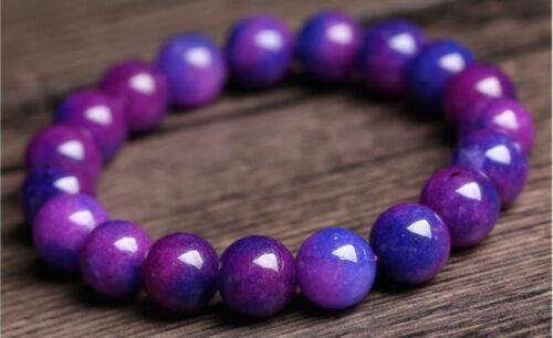 """Nouveau 6//8//10//12mm Naturel Violet Sugilite Afrique du Sud Round Bead Bracelet 7.5/"""""""