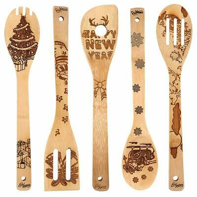 Kitchen Slotted Spoon Nightmare Before Christmas Bamboo Cooking Utensil 5 Pc Ebay