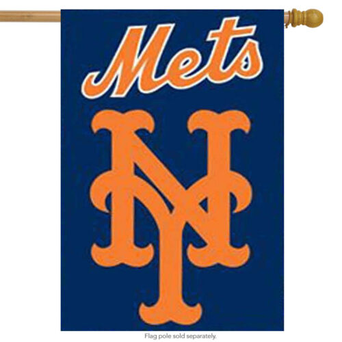 New York Mets Applique Embroidered Banner Flag MLB Licensed