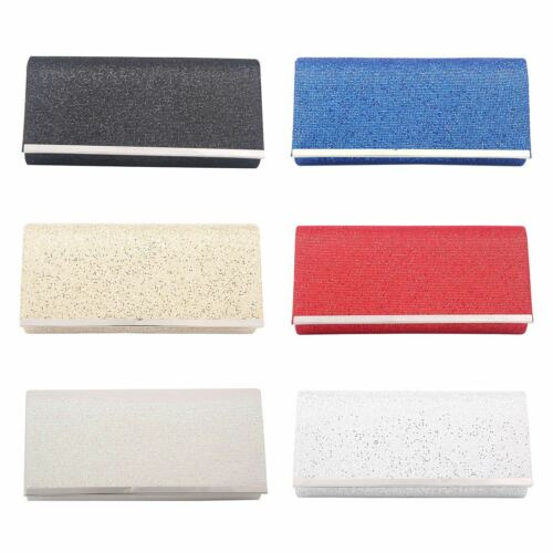 WOMENS SHIMMER GLITTER EVENING BRIDAL PARTY EVENING PROM ENVELOPE CLUTCH BAG