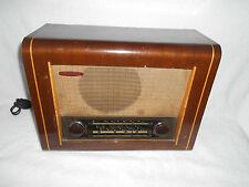 Tubo de la Válvula de radio entubado de Madera Vintage Pye radio Cambridge Red con incrustaciones de roble