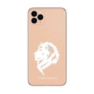 Coque Iphone 12 PRO MAX lion blanc personnalisee