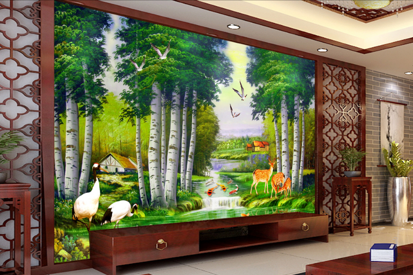 3D Anlmal Tree 65 Wallpaper Murals Wall Print Wallpaper Mural AJ WALL AU Lemon