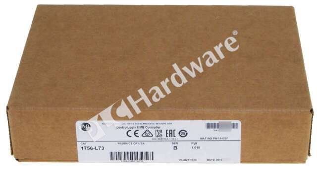 New Sealed Allen Bradley 1756-L73 /B Pkg 2019 ControlLogix CPU