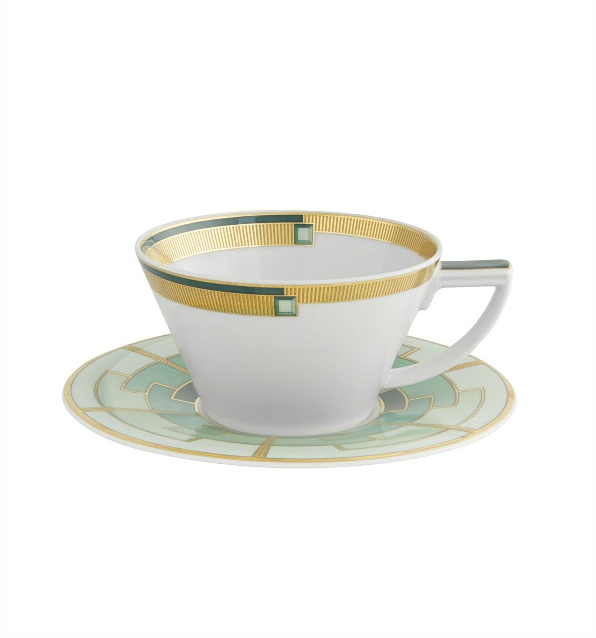 Vista Alegre Emerald Tea Cup with Saucer - Set of 8