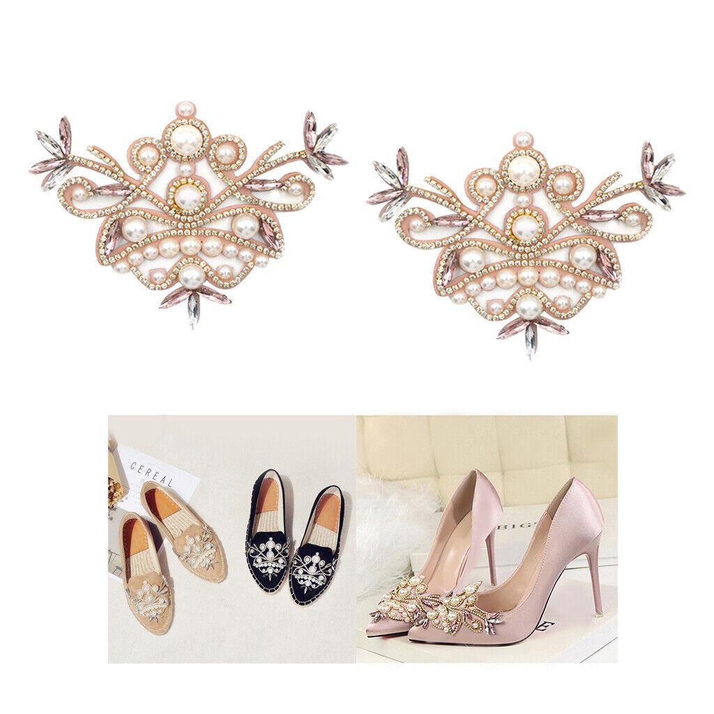 2x Girls Rhinestone Crystal Shoe Charms Clip High Heel Shoes Ornaments