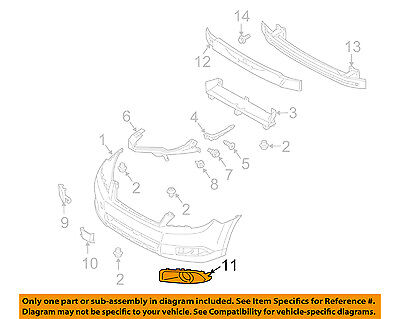 SUBARU OEM 10-12 Outback Front Bumper-Lamp Cover Right 57731AJ54A