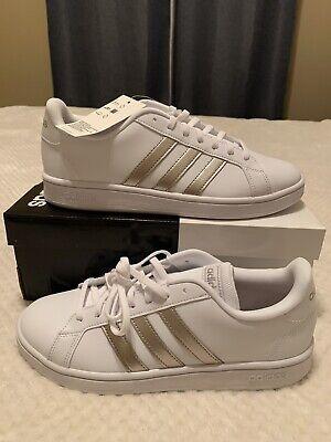 Adidas Grand Court Base White\u0026 Silver