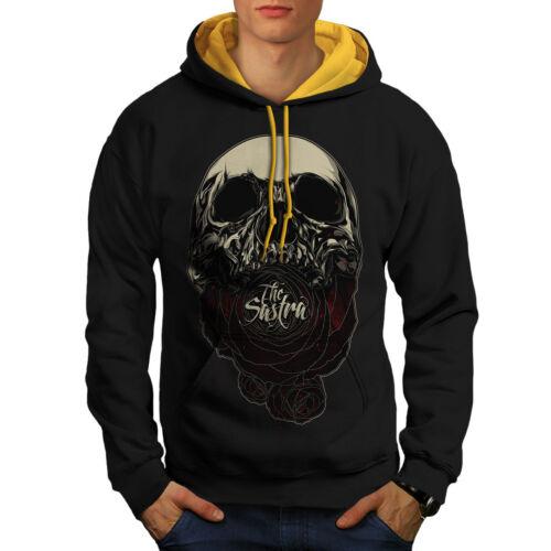 Skull Hoodie New Men Black gold The Sastra Hood Contrast Rose XHExqTTFwv