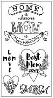 Sizzix Best Mom Ever Stamp 5 Pc Set 662001 Msrp $9.99 By Jen Long Awesome