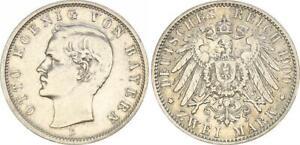 Bavaria 2 Mark Otto 1900 D VF 48517