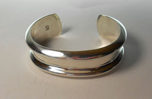 VINTAGE SILPADA 925 Sterling Silver WIDE ROLLED EDGE CUFF BANGLE BRACELET B0655