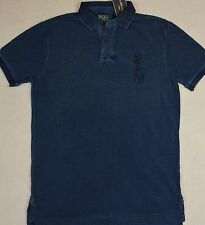 Polo Ralph Lauren Shirt Custom Fit Big Pony Indigo Mesh Shirt S Small NWT $125