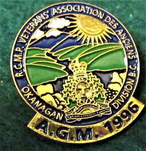 RCMP-VETERANS-ASS0CIATION-AGM-1996-OKANAGAN-DIV-BC-CANADA-Pin