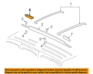 GM OEM Roof Rack Rail Luggage Carrier-Rail Cover Right 25832916