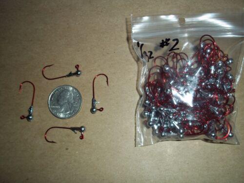 1//32oz #2 ROUND HEAD LEAD HEAD EAGLE CLAW RED 100ct