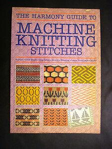 Harmony Guide To Knitting Stitches Volume 2 : Vintage The Harmony Guide to Machine Knitting Stitches Patterns Book eBay