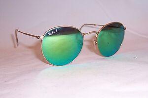 1d4c6c5b24 New RAY BAN ROUND METAL Sunglasses 3447 112 P9 GOLD GREEN MIRROR ...