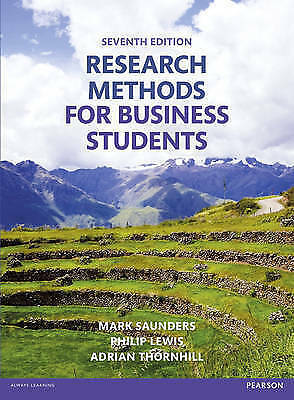 1 of 1 - Research Methods for Business Students by Mark N. K. Saunders, Philip Lewis,...