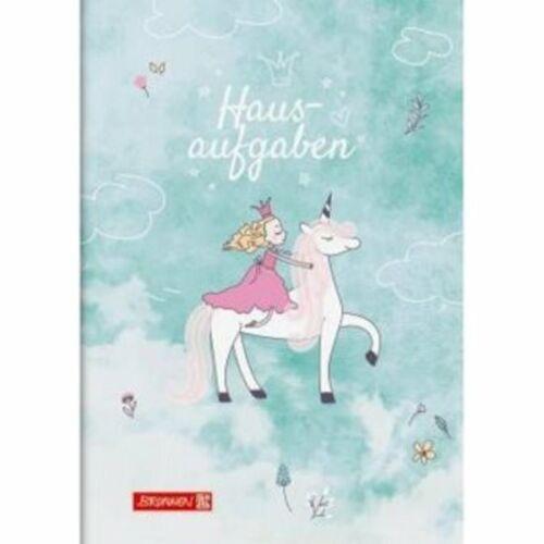 "10-46 807 842 Brunnen Hausaufgabenheft pfiffig /""Unicorn Princess/"" A5"