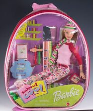 Barbie Doll School Cool 2001 New In Back Pack NRFB