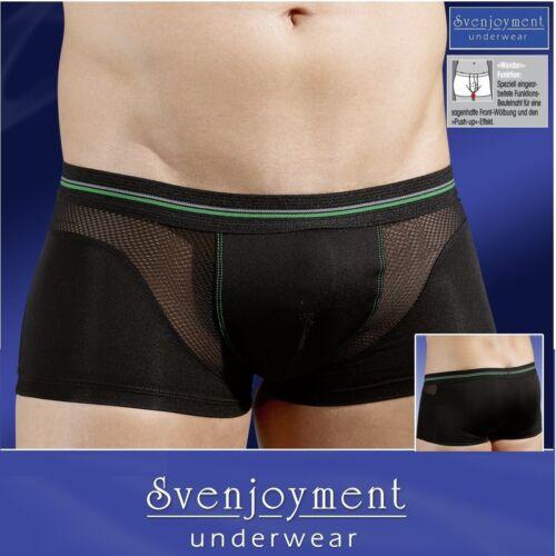 Svenj elegante Classic Retro Microfibra anca Hipster Pants Nero In S fino XL