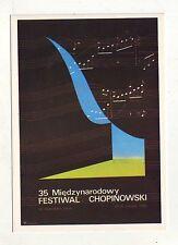Carte Postale  Pologne - festiwal Chopinowski  1980