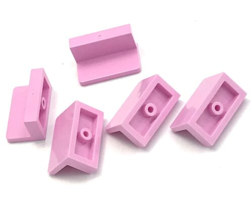 Lego 5 New Bright Pink Panels 1 x 2 x 1 with Rounded Corners Pieces