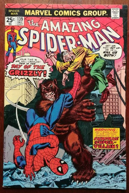 Amazing Spider-Man #139 (Marvel Dec 1974) 1st App Grizzly 8.0 VF Detailed Grade