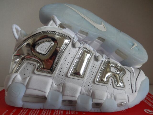 Nike Air More Uptempo White Chrome Pippen 917593-100 Size 8.5 Womens ... bf351086c9