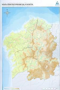 Mapa De Galicia Fisico Mudo.Detalles De Paq 50 Mapas Galicia Comarcal Fisico Mudos Envio Urgente Espana