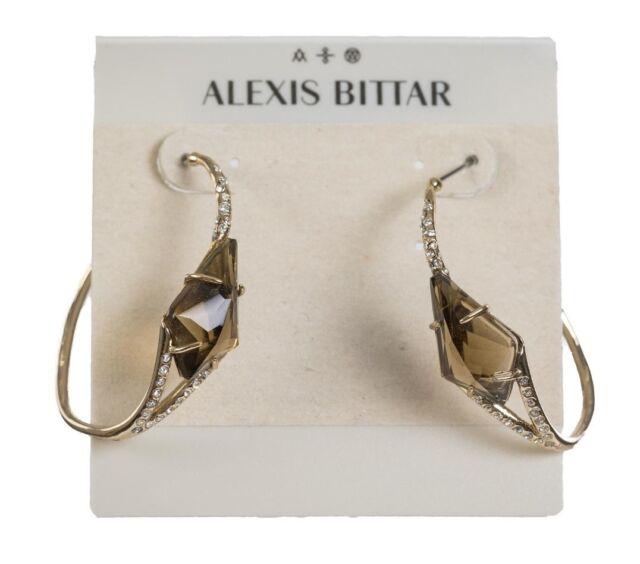 Alexis Bittar Miss Havisham Pyrite Doublet Hoop Earrings 0436