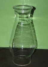 "Glass Candlewick Chimney Shade 8.5"" Oil or Electric Hurricane Lamp VTG Globe"