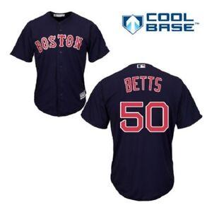 Mookie Betts Boston Red Sox Cool Base Jersey 5XL Navy Plus Sizes Big ... 184b80cde