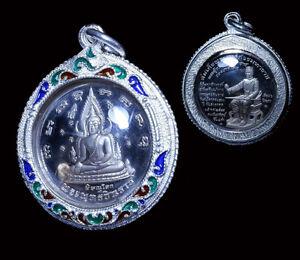 66d362c6b Phra Chinnaraj emperor wat Yai be.2548 ,Thai Buddha Amulet Solid Silver