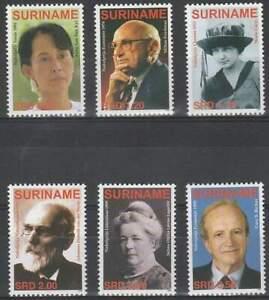Suriname-rep-postfris-2006-MNH-1386-1391-Nobelprijswinnaars