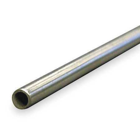"""ZORO SELECT 3ADF4 1//2/"""" OD x 6 ft Welded 304 Stainless Steel Tubing"""