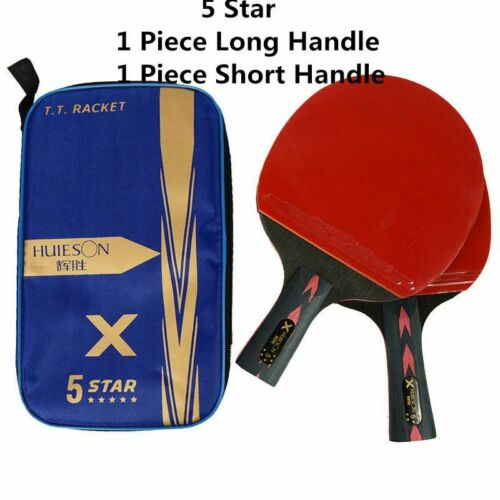 2Pcs Carbon Table Tennis Racket Super Powerful Ping Pong Racket Bat For Adult