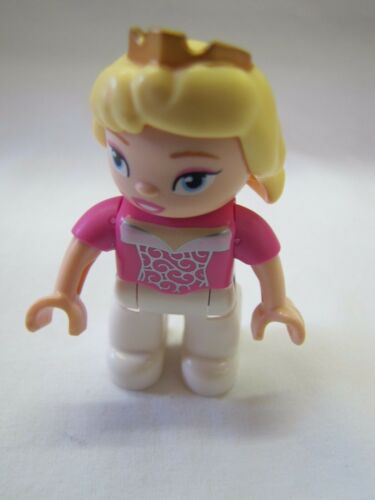 "LEGO DUPLO SLEEPING BEAUTY PRINCESS 2.5/"" FIGURE Replacement Blonde Girl"