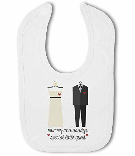 Momia y Papi está invitado especial boda pequeña-Babero de bebé por BWW impresión Ltd