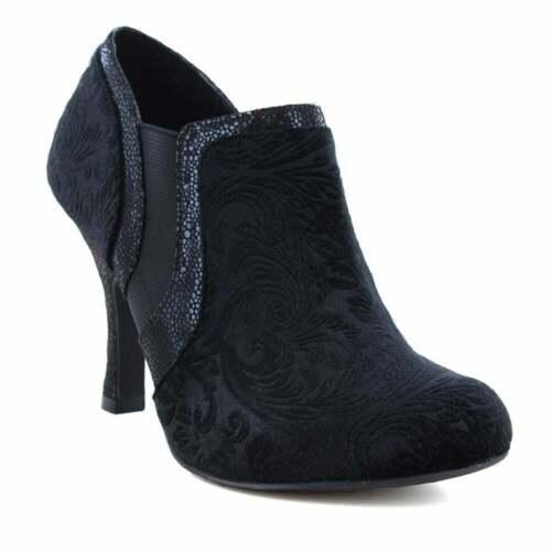 Ruby Shoo Juno Womens Ankle Boots Black Velvet