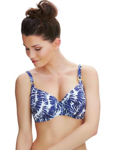 Fantasie Lanai Padded Balcony Bikini Top Nightshade 6312 New Womens Swimwear