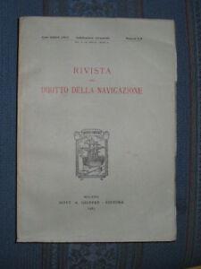 (prl) Antique Raro Rivista Del Diritto Di Navigazione Giuffre' 67 Rare 1967 Book